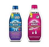 Aqua Rinse concentrado 0,75 l + Aqua Kem, Lavander concentrado 0,78 l – Desatascador Thetford para inodoros portátiles y tanques autocaravanas