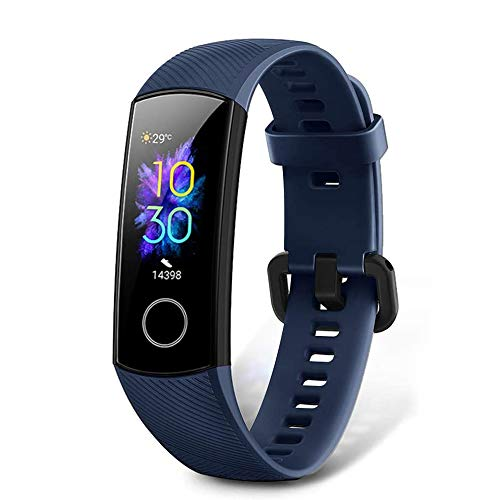 HONOR Band 5 Fitness Tracker, Activity Tracker with SpO2 Monitor Heart Rate and Sleep Monitor Calorie Counter Pedometer Step Tracker Bracelet for Men Women Kids, Blue