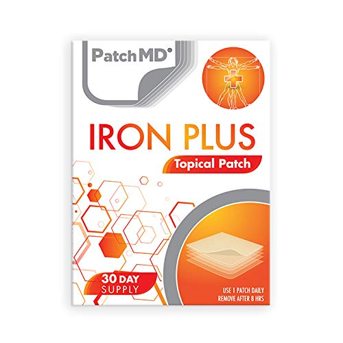PatchMD – Iron Plus Topical Patches - 30 Days Supply