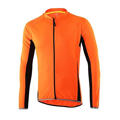 Maillot Ciclismo Hombre,Manga Larga Cremallera Completa Ropa Camiseta Jersey Bicicleta MTB,Respirable Secado...