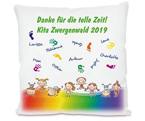 Werbetreff Gera Kita Abschiedsgeschenk, Kissen mit Namen, Kindergarten Abschiedsgeschenk Dankeschön Erzieher Kindergärtnerin