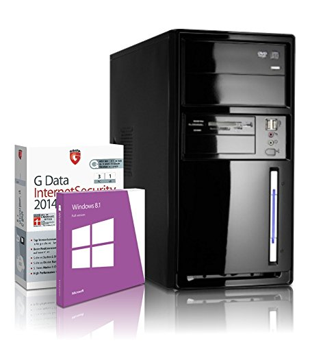 shinobee Office/Multimedia PC Computer mit 3 Jahren Garantie! inkl. Windows8.1 - AMD Dual Core 2x2500MHz, 4GB RAM, 320GB HDD, Radeon6410D, DVD±RW, Office, DVI,VGA, USB 3.0#4842
