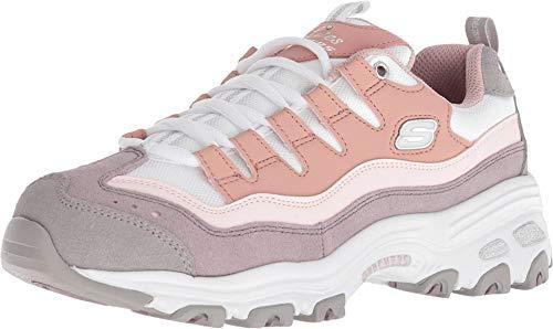 Skechers Damen D'LITES-Sure Thing Turnschuh, pink/violett, 38 EU