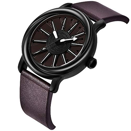 REIUYTHO Los hombres clásicos reloj de cuarzo con correa de la empuñadura, a prueba de agua, reloj de los deportes, la moda de negocios relojes de pulsera, cronógrafo adecuado for los jóvenes, hombres