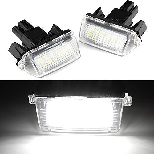 2 STKS 18LED 3528SMD Helder Witte LED Kentekenverlichting Lamp Voor T/oyota Yaris 2012-, Camry 2013-