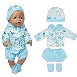 ZEEREE Ropa para Muñecos Bebé New Born Baby Doll, Trajes 17-18 'Ropa de Muñecas para Bebés (40-45 cm)