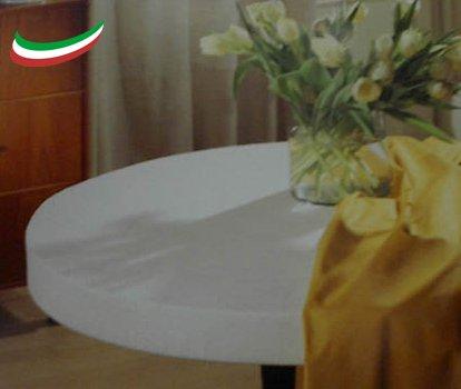 Mollettone Salvatavolo Copritavolo Elasticizzato antimacchia AntiGraffio antitaglio Made in Italy cm 140 Rotondo