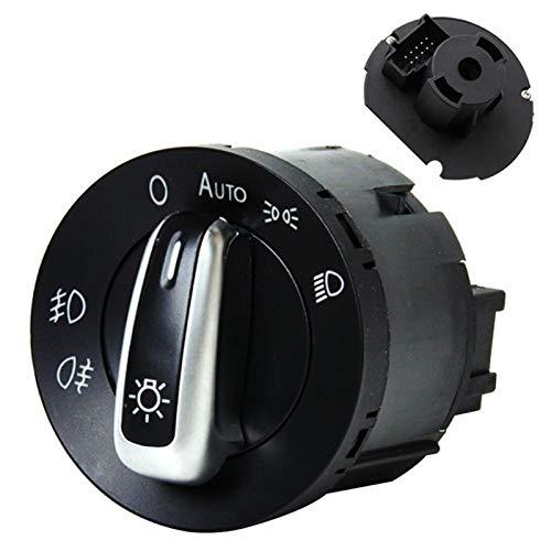 GAOLE Accesorios para el interruptor de la luz delantera del coche Interruptor de control de los faros del coche para Volkswagen Passat B5 B6 Polo Touran Bora Passat CC VW Golf 4 MK5 Caddy Jetta FOG F