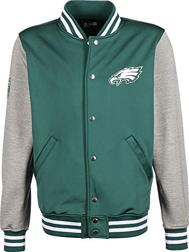 A NEW ERA NFL Varsity Jacket Phieag Sweatshirt Philadelphia Eagles, Herren XL Dunkelgrün