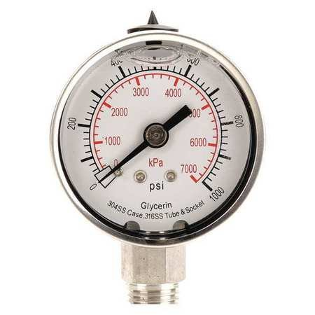 0 to 1000 Psi 1 4 in Pressure Gauge Kpa - Npt Directly managed store Range 7000 Miami Mall