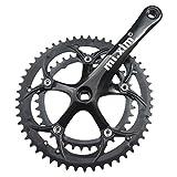 T TOOYFUL Guarnitura per Bici Ultraleggera con Doppia Corona 6-10 velocità 170 Mm 39-53 Denti