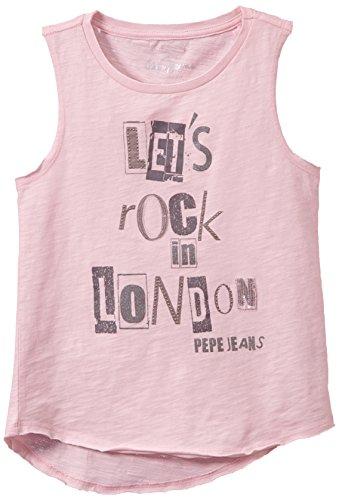Pepe Jeans Lolita Camiseta, Powder Pink, 12 años (152 cm) para Niñas