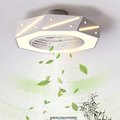 Ventilador de techo silencioso para habitación de niños, ventilador de macarrón, lámpara, ventilador de estrella con luces, ventilador de control remoto, ventilador silencioso para niños