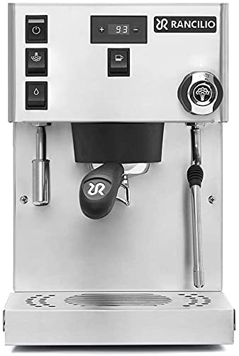 Rancilio Silvia Pro Dual Boiler Dual PID Espresso Machine, Stainless Steel