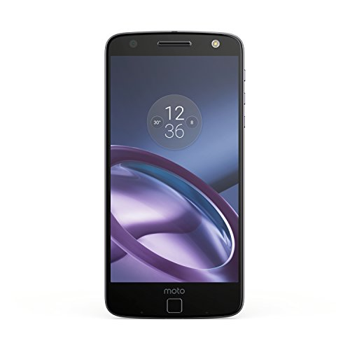 "Moto Z GSM Unlocked Smartphone, 5.5"" Quad HD screen, 64GB storage, 5.2mm thin - Lunar Grey"
