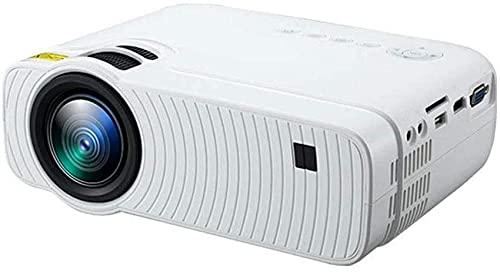 Proyector portátil, 1800 lúmenes, 1280 x 800 dp, compatible con HD 1080P, adecuado para una variedad de ocasiones en casa, fiesta, negro y blanco, 21,8 x 14,8 x 8 cm 12 – 23 (color: negro)