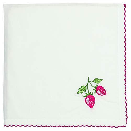 GreenGate - Serviette - Stoffserviette - Strawberry/Erdbeere - Baumwolle - 40x40cm