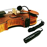 4/4 Acoustic Violin Fiddle Microphone Instrument Wired Condenser mic with XLR connector Phantom Power Adapter preamplifier