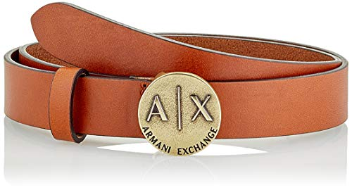 Armani Exchange Plaque Gürtel, Braun