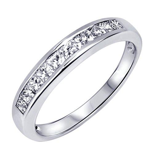 Memoryring Diamant Ring Gold Damen 750 Weißgold mit 10 Diamanten 0,47Ct Verlobungsring Ehering-Memoire Vorsteckring + Zertifikat