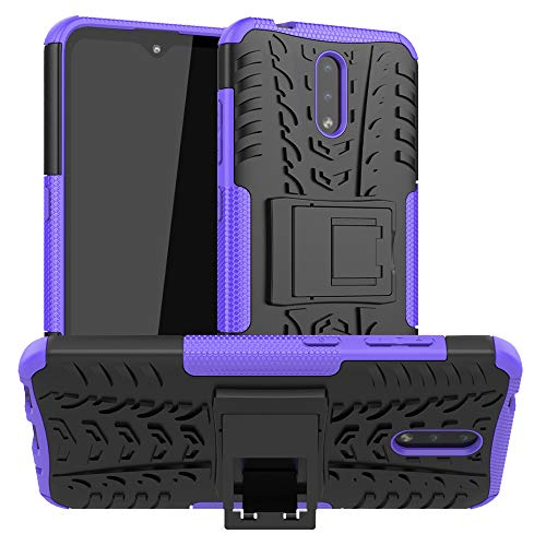 LFDZ Nokia 2.3 2019 Hülle,Abdeckung Cover schutzhülle Tough Strong Rugged Shock Proof Heavy Duty Hülle Für Nokia 2.3 2019(Not fit Nokia 2.2),Violett