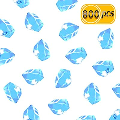 UPlama 600PCS Fake Crushed Ice Rocks, Acrylic Diamond Crystals Fake Diamonds Plastic Clear Ice Cubes Diamond Table Scatters Acrylic Gems for Vase Home Decoration Wedding Birthday(Pink)