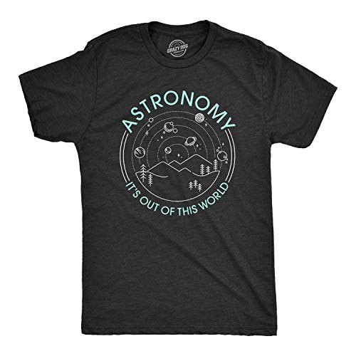 Crazy Dog T-Shirts Mens Astronomy It's Out of This World Tshirt Funny Outer...