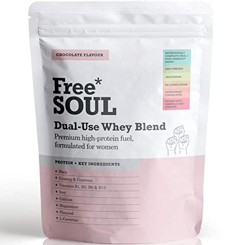 Free Soul Dual Use High Protein Whey Meal Replacement Powder for Weight Loss Control for Women with 25 Added Vitamins and Minerals | 15 Servings | 510g (Chocolate)