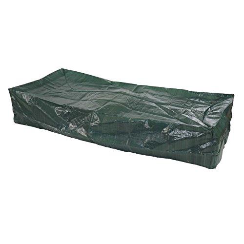 Housse de Protection pour transat Bain de Soleil Chaise Longue, 200x85x40cm - polyéthylène