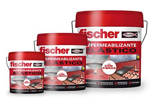 fischer – Impermeabilizante (cubo de 1 kg) gris, polímero líquido a base de caucho acrílico con...