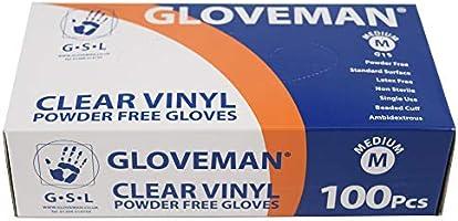 Gloveman Clear Vinyl Gloves (Box of 100) (Large)