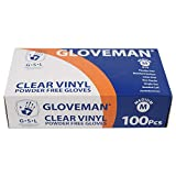 Gloveman Clear Vinyl Gloves (Box of 100) (Large)