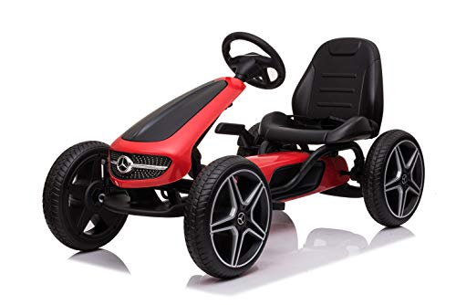 Kinder Go Kart Mercedes Benz Top Speed Red Racer Tretauto Gokart 3-8 Jahre