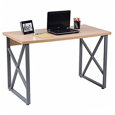 CHEFJOY Computer Desk PC Laptop Table Writing Study Workstation Home Office Furniture