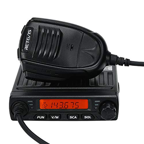 Retevis RT98 Mobile Radio Mini Transceiver High Power LCD 199 Ch CTCSS DCS Lock Car Mobile 2 Way Radio with Speaker Mic(1 Pack)