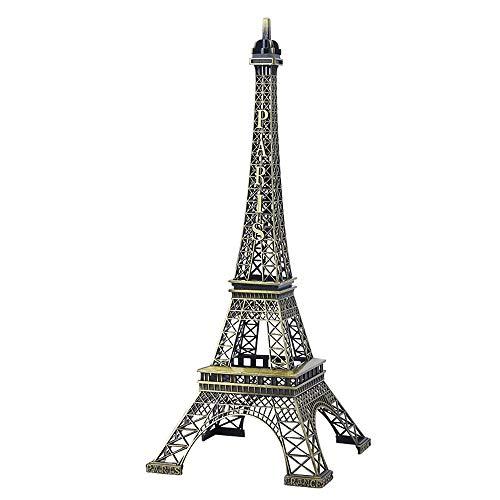 SuperglockT Estatua de la Torre Eiffel, de bronce, modelo de Torre Eiffel, de aleación de zinc, figura de recuerdo de la Torre Eiffel, regalo para mesa, habitación, figura decorativa (10 cm)