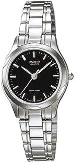 """ساعة للسيدات من """"كاسيو"""" فاشن رسمية بسوار من الستانلس ستيل، مضادة للماء"""