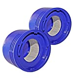 LifeSupplyUSA (2-Pack) HEPA Post Motor Filter Replacement Compatible with Dyson V7 V8 SV10 SV11 Cordless Vacuum Cleaners, Part 967478-01