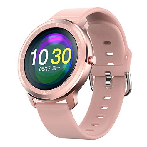 Reloj inteligente de moda con monitor de actividad física y frecuencia cardíaca, monitor de presión arterial IP67, impermeable, Bluetooth, reloj inteligente, pulsera inteligente para M-C