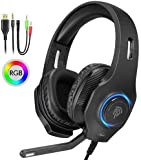 Diana 3.5mm Stereo Over-Ear Gaming Headphone, Gaming Headset with Noise Cancelling Mic & Volume Control for PC, Xbox One, PS4, Mac, Laptop, Mobile Phones, Gift (Black)