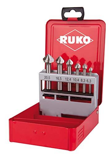 RUKO 102152E Kegel- und Entgratsenker-Satz DIN 335 Form C 90° HSSE-Co 5