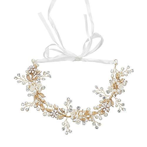 Bruiloft Bloem Hoofdband Haarband Hand-Parel Water Diamant Haar Ornament Europese en Amerikaanse Bruid Sieraden