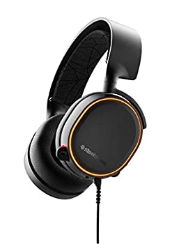 SteelSeries Arctis 5 - RGB Illuminated Gaming Headset with DTS Headphone  X v2.0 Surround - for PC and PlayStation 4 - Black