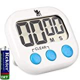 H&S Kitchen Timer Digital Cooking Timer Magnetic Countdown Clock Large LCD Screen Loud