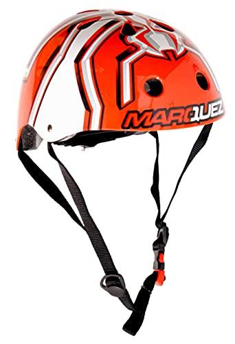 KIDDIMOTO Fahrrad Helm für Kinder - CE-Zertifizierung Fahrradhelm - Design Sport Helm für Skates, Roller, Scooter, laufrad - Marc Marquez - S (48-53cm)