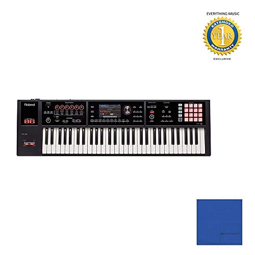 Best Buy! Roland FA-06 61-Key Workstation with Microfiber and 1 Year Everything Music Extended Warra...