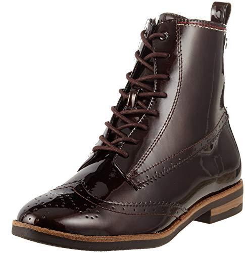 Tamaris Damen 25119-21 Combat Boots, Braun (Maroon Pat. 387), 40 EU
