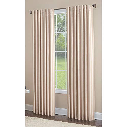 allen + roth Glenellen 84-in Sand Polyester Light Filtering Curtain Panel 52 W x 84 L