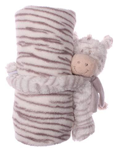 Pluizige babydeken met schattige knuffeldieren in verschillende varianten, kinderdeken, wollen deken