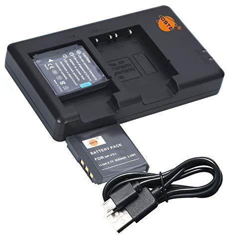 DSTE 2PCS NP-FE1(950mAh/3.7V) Batería Cargador Compatible para Sony Cyber-Shot DSC-T7,Cyber-Shot DSC-T7/b,Cyber-Shot DSC-T7/S Digital Cámara